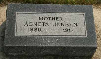 JENSEN, AGNETA - Cedar County, Nebraska | AGNETA JENSEN - Nebraska Gravestone Photos