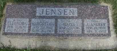 JENSEN, J ANDREW - Cedar County, Nebraska | J ANDREW JENSEN - Nebraska Gravestone Photos