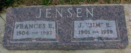 JENSEN, FRANCES E. - Cedar County, Nebraska   FRANCES E. JENSEN - Nebraska Gravestone Photos