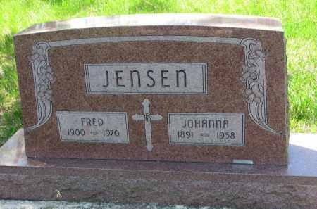JENSEN, JOHANNA - Cedar County, Nebraska | JOHANNA JENSEN - Nebraska Gravestone Photos