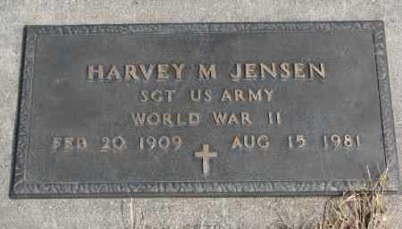 JENSEN, HARVEY M. - Cedar County, Nebraska | HARVEY M. JENSEN - Nebraska Gravestone Photos