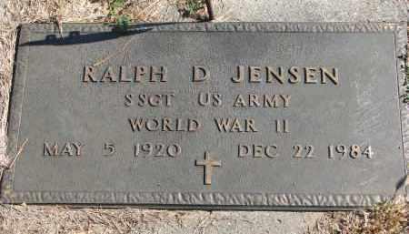 JENSEN, RALPH D. - Cedar County, Nebraska | RALPH D. JENSEN - Nebraska Gravestone Photos