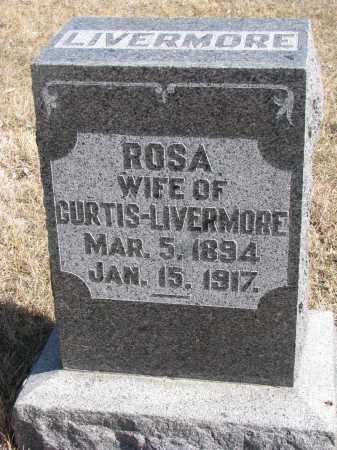 LIVERMORE, ROSA - Cedar County, Nebraska | ROSA LIVERMORE - Nebraska Gravestone Photos
