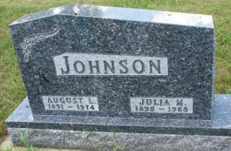 JOHNSON, AUGUST L. - Cedar County, Nebraska | AUGUST L. JOHNSON - Nebraska Gravestone Photos