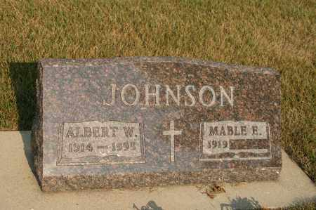 JOHNSON, ALBERT W - Cedar County, Nebraska | ALBERT W JOHNSON - Nebraska Gravestone Photos