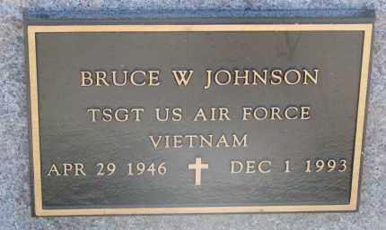 JOHNSON, BRUCE W. - Cedar County, Nebraska | BRUCE W. JOHNSON - Nebraska Gravestone Photos
