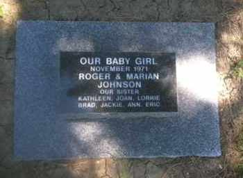 JOHNSON, BABY GIRL - Cedar County, Nebraska | BABY GIRL JOHNSON - Nebraska Gravestone Photos