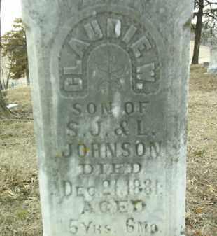 JOHNSON, CLAUDIE W. - Cedar County, Nebraska | CLAUDIE W. JOHNSON - Nebraska Gravestone Photos