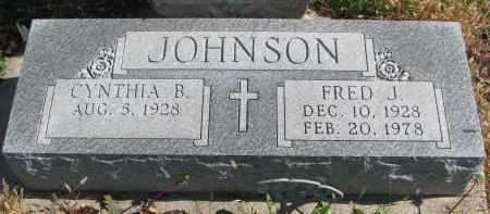 JOHNSON, CYNTHIA B. - Cedar County, Nebraska   CYNTHIA B. JOHNSON - Nebraska Gravestone Photos