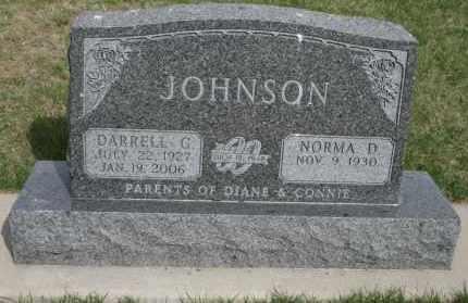 JOHNSON, DARRELL G - Cedar County, Nebraska   DARRELL G JOHNSON - Nebraska Gravestone Photos