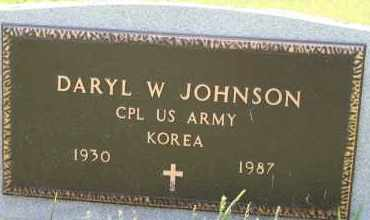 JOHNSON, DARYL W - Cedar County, Nebraska | DARYL W JOHNSON - Nebraska Gravestone Photos