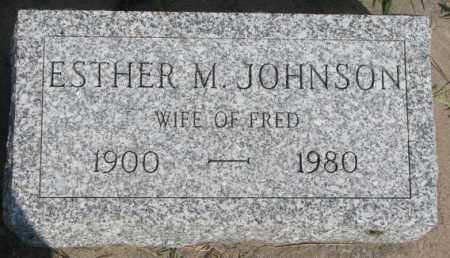 JOHNSON, ESTHER M. - Cedar County, Nebraska | ESTHER M. JOHNSON - Nebraska Gravestone Photos