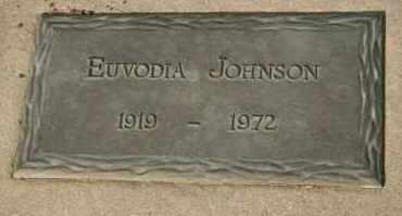 JOHNSON, EUVODIA - Cedar County, Nebraska | EUVODIA JOHNSON - Nebraska Gravestone Photos