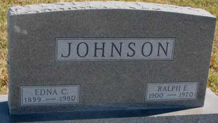 JOHNSON, RALPH E. - Cedar County, Nebraska | RALPH E. JOHNSON - Nebraska Gravestone Photos