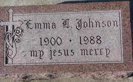 JOHNSON, EMMA (W?) - Cedar County, Nebraska | EMMA (W?) JOHNSON - Nebraska Gravestone Photos