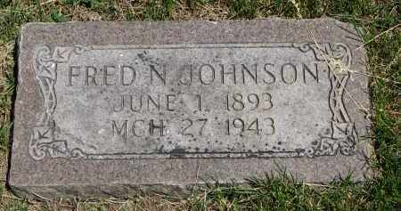 JOHNSON, FRED N. - Cedar County, Nebraska | FRED N. JOHNSON - Nebraska Gravestone Photos