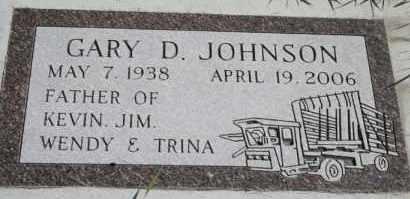 JOHNSON, GARY D - Cedar County, Nebraska | GARY D JOHNSON - Nebraska Gravestone Photos