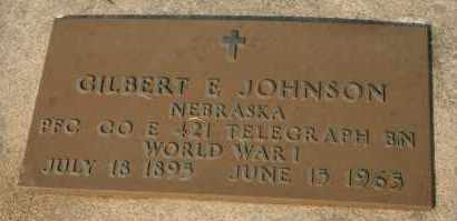 JOHNSON, GILBERT E - Cedar County, Nebraska | GILBERT E JOHNSON - Nebraska Gravestone Photos