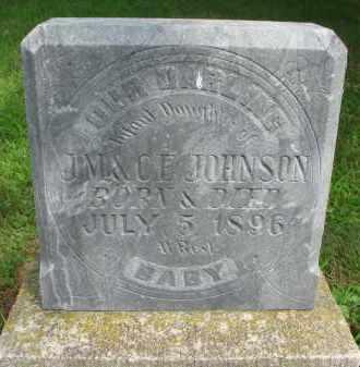 JOHNSON, INFANT DAUGHTER - Cedar County, Nebraska | INFANT DAUGHTER JOHNSON - Nebraska Gravestone Photos