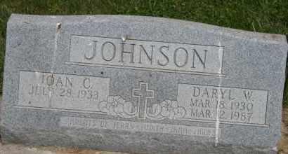 JOHNSON, DARYL W - Cedar County, Nebraska | DARYL W JOHNSON - Nebraska Gravestone Photos