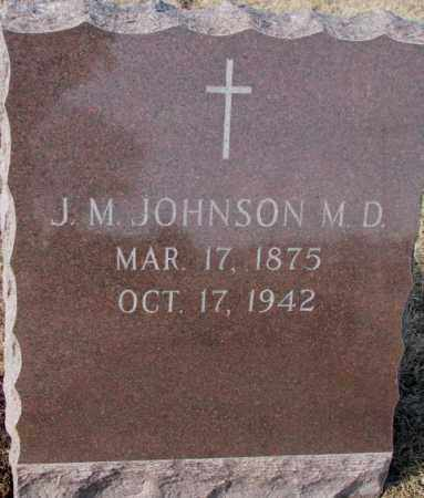 JOHNSON, J.M. - Cedar County, Nebraska | J.M. JOHNSON - Nebraska Gravestone Photos