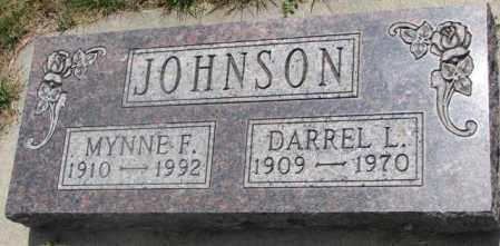 JOHNSON, MYNNE F. - Cedar County, Nebraska   MYNNE F. JOHNSON - Nebraska Gravestone Photos