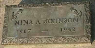 JOHNSON, MINA A - Cedar County, Nebraska   MINA A JOHNSON - Nebraska Gravestone Photos
