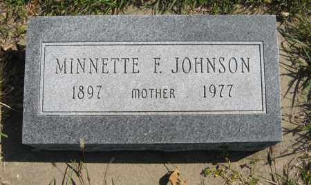JOHNSON, MINNETTE F. - Cedar County, Nebraska | MINNETTE F. JOHNSON - Nebraska Gravestone Photos