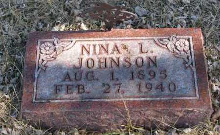 JOHNSON, NINA L. - Cedar County, Nebraska | NINA L. JOHNSON - Nebraska Gravestone Photos