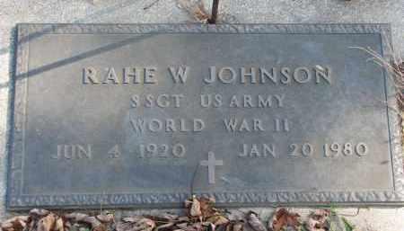 JOHNSON, RAHE W. - Cedar County, Nebraska | RAHE W. JOHNSON - Nebraska Gravestone Photos