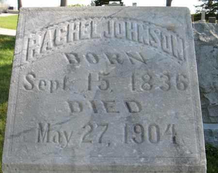 JOHNSON, RACHEL (CLOSEUP) - Cedar County, Nebraska | RACHEL (CLOSEUP) JOHNSON - Nebraska Gravestone Photos