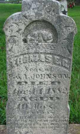 JOHNSON, THOMAS E.G. - Cedar County, Nebraska | THOMAS E.G. JOHNSON - Nebraska Gravestone Photos
