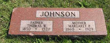 JOHNSON, MARGARET P. - Cedar County, Nebraska | MARGARET P. JOHNSON - Nebraska Gravestone Photos