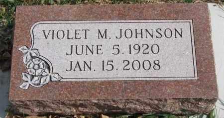 JOHNSON, VIOLET M. - Cedar County, Nebraska | VIOLET M. JOHNSON - Nebraska Gravestone Photos