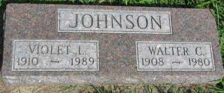 JOHNSON, VIOLET L. - Cedar County, Nebraska | VIOLET L. JOHNSON - Nebraska Gravestone Photos