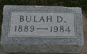 JONES, BULAH D - Cedar County, Nebraska   BULAH D JONES - Nebraska Gravestone Photos