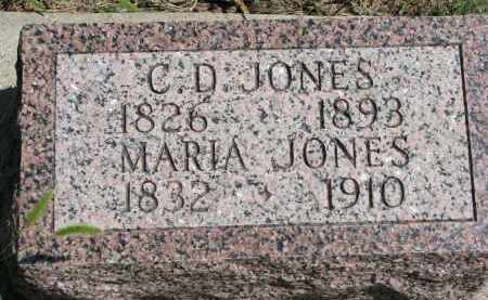 JONES, C.D. - Cedar County, Nebraska | C.D. JONES - Nebraska Gravestone Photos