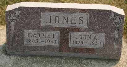 JONES, CARRIE I - Cedar County, Nebraska | CARRIE I JONES - Nebraska Gravestone Photos