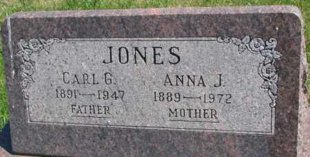 JONES, CARL G. - Cedar County, Nebraska | CARL G. JONES - Nebraska Gravestone Photos