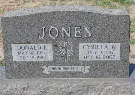JONES, CYRILLA W. - Cedar County, Nebraska | CYRILLA W. JONES - Nebraska Gravestone Photos