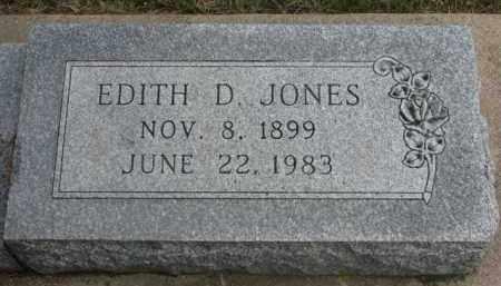 JONES, EDITH D. - Cedar County, Nebraska | EDITH D. JONES - Nebraska Gravestone Photos