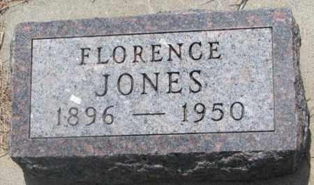 JONES, FLORENCE - Cedar County, Nebraska | FLORENCE JONES - Nebraska Gravestone Photos