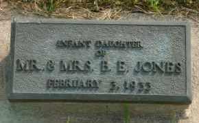 JONES, INFANT DAUGHTER - Cedar County, Nebraska | INFANT DAUGHTER JONES - Nebraska Gravestone Photos