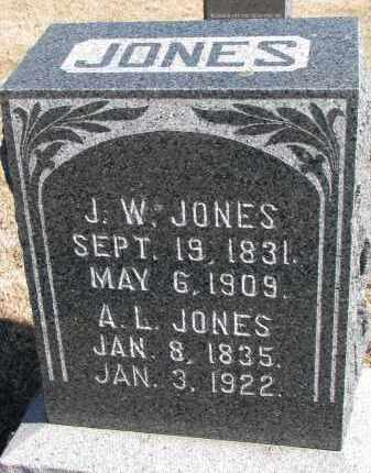 JONES, J.W. - Cedar County, Nebraska | J.W. JONES - Nebraska Gravestone Photos