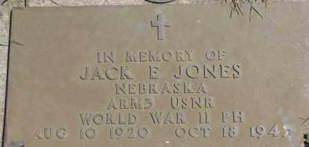 JONES, JACK E. (WW II MARKER) - Cedar County, Nebraska | JACK E. (WW II MARKER) JONES - Nebraska Gravestone Photos