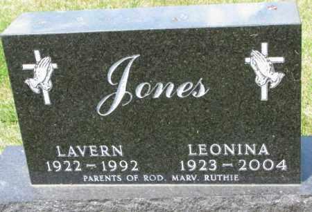 JONES, LAVERN - Cedar County, Nebraska   LAVERN JONES - Nebraska Gravestone Photos