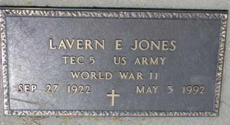 JONES, LAVERN E. (WW II) - Cedar County, Nebraska | LAVERN E. (WW II) JONES - Nebraska Gravestone Photos