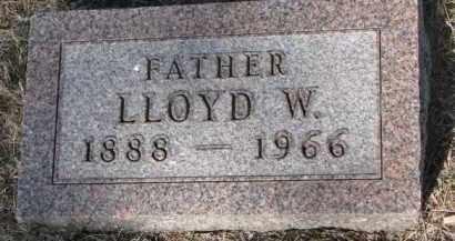 JONES, LLOYD W. - Cedar County, Nebraska | LLOYD W. JONES - Nebraska Gravestone Photos