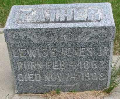 JONES, LEWIS E. JR. - Cedar County, Nebraska | LEWIS E. JR. JONES - Nebraska Gravestone Photos