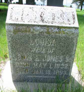 JONES, LOUISA (2 OF 2) - Cedar County, Nebraska | LOUISA (2 OF 2) JONES - Nebraska Gravestone Photos